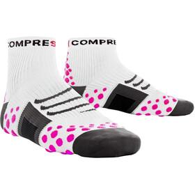 Compressport ProRacing Run Calcetines de corte alto, white/pink